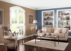 This is the project I created on Behr.com. I used these colours: COCO RUM(PPU4-02),ENGLISH CHANNEL(PPU14-19),ANCIENT ROOT(PPU4-20),MACAROON CREAM(S250-1),