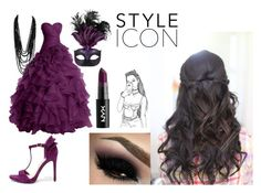 Icon by brutalbutterfly on Polyvore featuring Jessica Simpson, Masquerade, purple, dress and plum