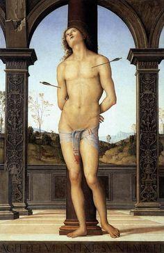 Pietro Perugino - St. Sebastian, 1495.
