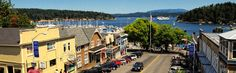 Start your San Juan Islands vacation in Friday Harbor. Find the best ways to watch whales and wildlife. Drive the scenic byway to Roche Harbor. Friday Harbor Washington, Washington State, Olympia Washington, Lopez Island, Harbor Town, Orcas Island, San Juan Islands, Pacific Northwest, Small Towns