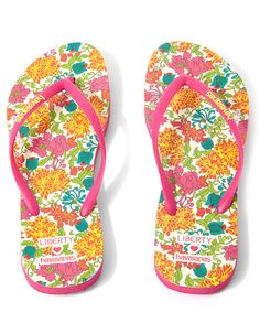 a51d64e68da24a Liberty for Havaianas Size UK 4 5 Lonicera Liberty Print Slim Flip Flops  Rubber Shoes
