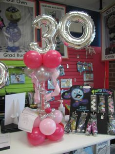 30th Birthday balloons