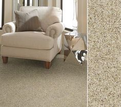 """HGTV HOME Flooring by Shaw carpeting in Anso nylon. Style """"Timeless Trends II"""" color Nectar."""