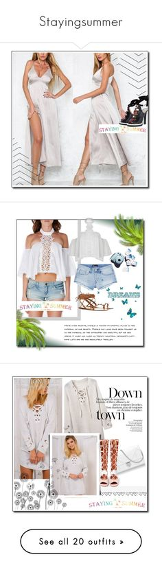 """""""Stayingsummer"""" by smajicelma ❤ liked on Polyvore featuring stayingsummer, 3x1, 2016, Passionforfassion, fabulous, Brewster Home Fashions, GE, SANCHEZ and CHI"""