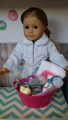 American Girl Doll Crafts and Fun!: Christmas Gift Ideas for Your Doll: Make a Spa Gift Basket