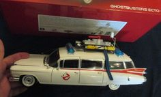 "Mint Hot Wheels 1: 18 Scale "" Ghost Busters "" Ecto-1, Original Box Mattel 2014 #HotWheels #Cadillac"