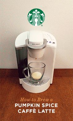 This fall, you can get a PSL in your pajamas. Brew Pumpkin Spice Caffè Latte K-Cup pods in two easy steps. First, pour the Pumpkin Spice flavor packet into your favorite mug. Place the mug on drip tray and, using the 8oz. setting, brew a Caffè Blend pod into the mug. Simply stir and feel all the joy of fall!