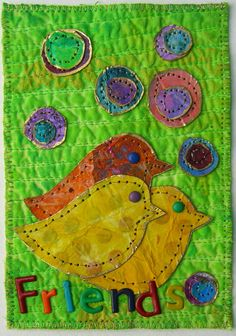 """cute quilted card (search """"card quilts"""" for lots more)."""