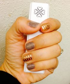 Jamberry Nails: Elephant Grey and Metallic Gold Pinstripe! triciaweaver.jamberrynails.net