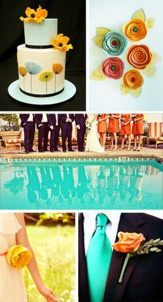 Poppies and Sunshine - Bright Wedding Inspiration Board