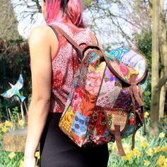 Patchwork & Brown Velvet Suede Style - Backpacks - Nice summer look!