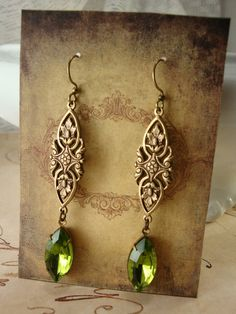 Victorian Forest earrings by Ophelia's Adornments