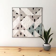 Modern mini quilts - Salty Oat + Cotton & Flax