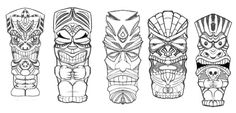 tiki drawing - Google Search