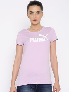 Buy PUMA Lavender Printed T Shirt - Apparel for Women