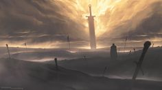 Blade of the Gods, Shahab Alizadeh on ArtStation at https://www.artstation.com/artwork/NbDXq