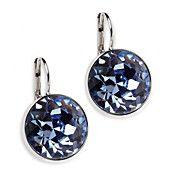 Swarovski Earrings, Lapis Crystal Bella Drop