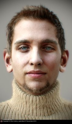 Title: white male portrait Name: amr helmy Country: Egypt Software: Arnold, MARI, Maya, ZBrush