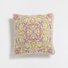 PRINTED LINEN CUSHION COVER