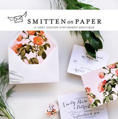 Custom wedding stationery from Smitten on Paper