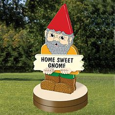 "3D Gnome for All Seasons Pattern:  This little guy will look great on your front porch or in your garden. Full alphabet and numbers included for you to come up with your own sayings. Use it for your address or just a simple welcome greeting. 21""H x 10""W  Pattern #2310  $12.95   (insect, crafting, crafts, woodcraft, pattern, woodworking,animal) Pattern by Sherwood Creations"