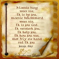 Afrikaans Quotes, Prayer Board, God Is Good, Trust God, Bible Verses, Prayers, Spirituality, Inspirational Quotes, Faith