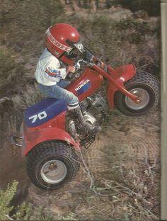 Honda atc 70 in action