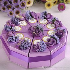 Send out your favors with box for wedding cards,cheap favor boxes and clear party favor boxes and you can have the best one-2015 new romantic multicolor candy boxes cake shape multicolor flower decoration bowknot ribbon wedding favors party gift boxes holders from dhgateshujunyan.