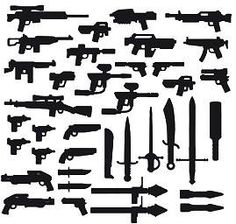 BrickArms Exclusive 2 to 4 Inch Scale Figure Style Mega Weapons Pack Version …