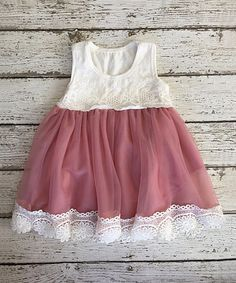 Another great find on #zulily! Dusty Rose Vintage Lace Tank Dress - Infant & Toddler #zulilyfinds
