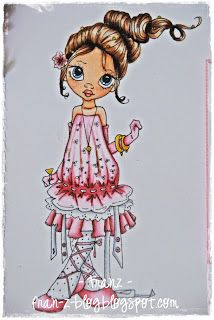 Copic: Skin: E0000-E00-E11-R20 (for cheeks) Dress and Socks: BV04-BV01-BV00-BV0000-C1