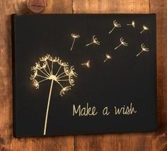 Make a Wish lighted canvas art (Project instructions and printable shopping list) by MyLittleCornerOfTheWorld