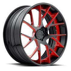 Oh yeah Red Custom Wheels And Tires, Rims And Tires, Rims For Cars, Bbs Wheels, Chrome Wheels, Black And Chrome Rims, Truck Rims, Custom Forge, Forged Wheels