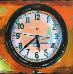 "Daily Paintworks - ""Time Stands Still"" - Original Fine Art for Sale - © Beth Bordelon Time Stood Still, Time Art, Art For Sale, Illustration Art, Clock, Strong, Painting, Paintings, Watch"