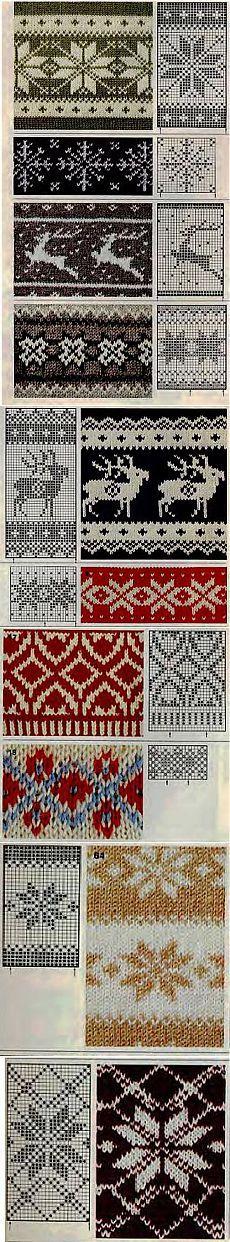 Зимние узоры для вязания   Knitta.ru — уроки и советы по вязанию