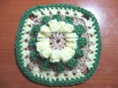 ▶ Popcorn Granny Square - Crochet Tutorial - YouTube