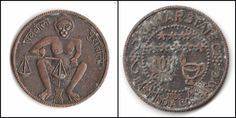 Old Half anna 1936 east india company Token Kinnar state coin collectible.G29-71