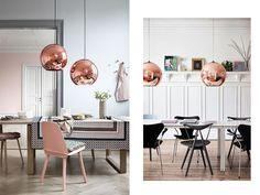 Lámparas colgantes cobre