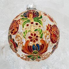 Painted Ornaments, Christmas Bulbs, Hand Painted, Holiday Decor, Glass, Painting, Art, Art Background, Christmas Light Bulbs