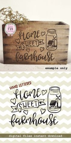 Home sweet Farmhouse, farm house country rural windmill digital cut files, SVG, DXF, studio3 for cricut, silhouette cameo, diy vinyl decals by LoveRiaCharlotte on Etsy
