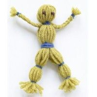 Yarn Doll like the ones that the pioneers used to make for the amusement of their children www.freekidscrafts.com