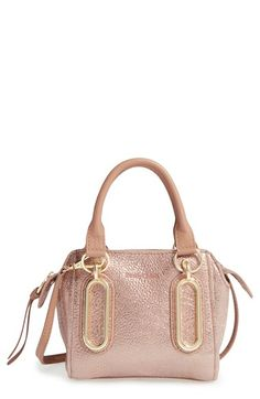 SEE BY CHLOÉ 'Mini Paige' Metallic Leather Crossbody Bag. #seebychloé #bags #shoulder bags #hand bags #leather #crossbody #metallic