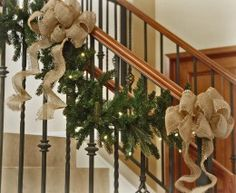 This is so convenient, Cordless Pre-Lit LED Christmas Garland.  Perfect for those out of reach places w no nearby outlet & you can avoid using that tacky looking extension cord.  They have wreaths & table top trees too!