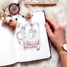 🇬🇧Time for a change! What better theme than Tarot for February? This month will be filled with roses and magical things! Quale tema migliore per Febbraio se non i Tarocchi? Questo mese sarà pieno di rose e cose magiche! Bullet Journal Junkies, Bullet Journal Notebook, Bullet Journal Aesthetic, Bullet Journal Themes, Bullet Journal Spread, Bullet Journal Inspiration, Love Is In The Air, Cool Themes, Journal Layout
