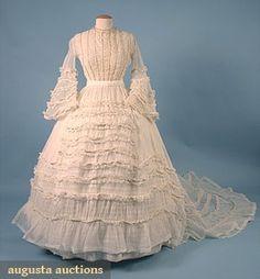 1860 wedding dress
