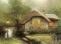 "©Thomas Kinkade  ""Collector's Cottage"""
