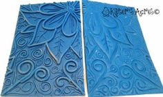 How to Make a MultiDimensional Texture Plate from Polymer Clay by KatersAcres http://katersacres.com