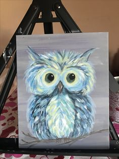 Easy Canvas Painting, Canvas Wall Art, Watercolor Projects, Autumn Art, Painting Inspiration, Art Pictures, Folk Art, Art Drawings, Owls