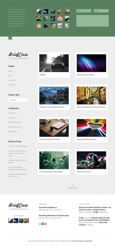 Briefcase is a minimalist WordPress Portfolio & Blog Theme that can be used in order to create a simple portfolio or a blog. Briefcase has a simple, but elegant design and makes the user concentrate on the content of the website.    You can use this WordPress theme for your personal portfolio where you can showcase your creative works; or your personal blog, where you can publish articles without thinking about the overall design and how is it going to look and feel.