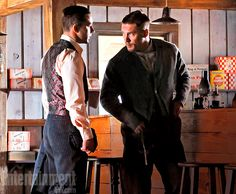 Shia LaBeouf (left) and Tom Hardy (right) play real-life moonshiners who run afoul of the law in ''Lawless'' (out Aug. 31), adapted from the novel ''The Wettest County in the World.''